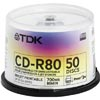 TDK  52x 700MB 80Min White Printable CDR <br>QuickFind: 4105