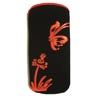 Xpert Systems  Soft Touch Slip Pouch Case [ BLACK WITH RED BUTTERFLY ] <br>QuickFind: 6987
