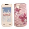 Samsung GT S8000 Jet2 Crystal Bling Diamante Case for Phone [ PINK BUTTERFLIES ] <br>QuickFind: 7054
