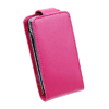 Sony Ericsson X10 MINI Leather Flip Mobile Phone Case [ PINK ] <br>QuickFind: 7368