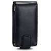 Blackberry 9300 Curve Leather Vertical Flip Case [ BLACK ] <br>QuickFind: 7373