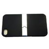 Apple iPhone 4G Hard Back Cover - Soft Touch [ BLACK WITH FLIP OUT DESK STAND ] <br>QuickFind: 7380