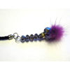 Xpert Systems  Mobile Phone Charm [ PURPLE DIAMANTE BLING ] <br>QuickFind: 7388