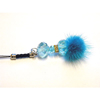 Xpert Systems  Mobile Phone Charm [ SKY BLUE DIAMANTE BLING ] <br>QuickFind: 7395