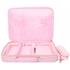 Xpert Systems 15 -17 Inch Pink Leather Laptop Bag with Strap <br>QuickFind: 7412