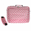 Xpert Systems 15.4 Inch Large Polka Dot Laptop Bag - [ BABY PINK ] <br>QuickFind: 7414