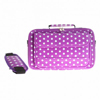 Xpert Systems 15.4 Inch Large Polka Dot Laptop Bag - [ PURPLE ] <br>QuickFind: 7415