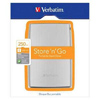 Verbatim 250GB Portable Hard Drive - USB 2.0 - 2.5Inch HDD - Silver <br>QuickFind: 7486