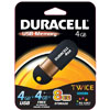 Duracell 4GB Capless USB 2.0 Flash / Key Drive - 4GB + 4GB Free Automatic Online Storage <br>QuickFind: 7517