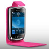 Blackberry 9800 TORCH Leather Flip Mobile Phone Case [ PINK ] <br>QuickFind: 7574