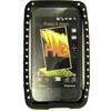 HTC Touch HD Gel Diamante Bling Mobile Phone Case [ BLACK ] <br>QuickFind: 7611
