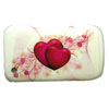 Blackberry 9300 / 8520 Curve Crystal Cover [ WHITE WITH LOVEHEARTS ] <br>QuickFind: 7649