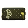HTC Desire Crystal Bling Cover [ BLACK - FRONT AND BACK ] <br>QuickFind: 7651